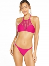 High Neck Crochet Insert Bikini Set